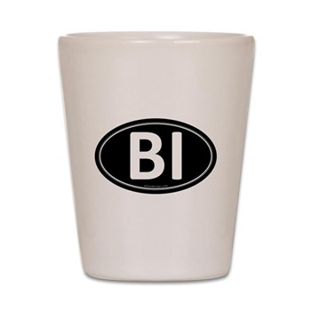 BI Black Euro Oval Shot Glass