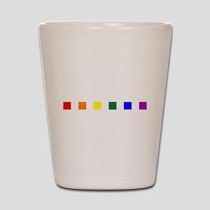 Rainbow Pride Squares Shot Glass