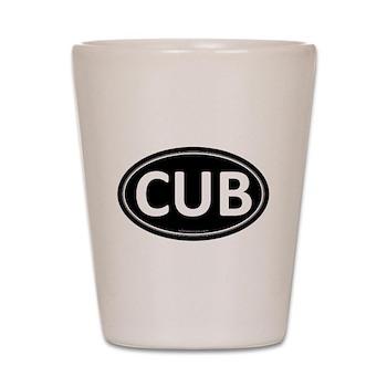 CUB Black Euro Oval Shot Glass