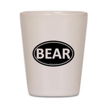 BEAR Black Euro Oval Shot Glass