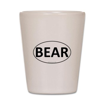 BEAR Euro Oval Shot Glass