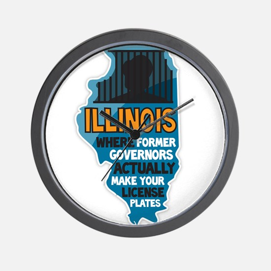 Illinois Governors Wall Clock