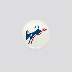 Democrat Kicking Donkey Mini Button
