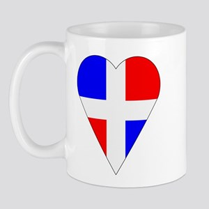 Dominican Heart-Shaped Flag Mug