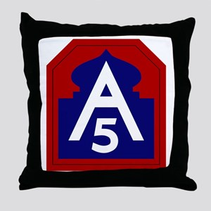 5th Army Throw Pillow