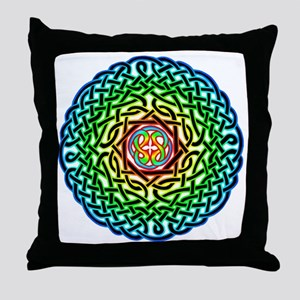 Rainbow Celtic Knot Throw Pillow