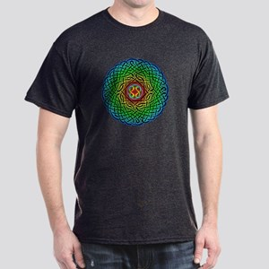 Rainbow Celtic Knot Dark T-Shirt
