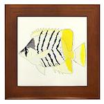 Atoll Butterflyfish Framed Tile