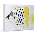 Atoll Butterflyfish 8x10 Canvas Print
