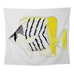 Atoll Butterflyfish Wall Tapestry