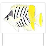 Atoll Butterflyfish Yard Sign