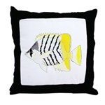 Atoll Butterflyfish Throw Pillow