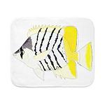 Atoll Butterflyfish Sherpa Fleece Throw Blanket