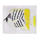 Atoll Butterflyfish Plush Fleece Throw Blanket