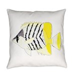 Atoll Butterflyfish Everyday Pillow