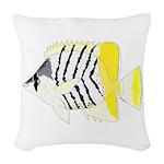 Atoll Butterflyfish Woven Throw Pillow