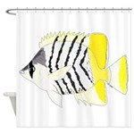 Atoll Butterflyfish Shower Curtain