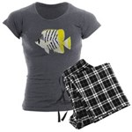 Atoll Butterflyfish Women's Charcoal Pajamas