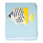 Atoll Butterflyfish Baby Blanket