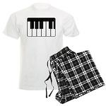Keyboard Piano Music Mens Pajamas