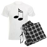 Musician Musical Notes Mens Plaid Pajamas