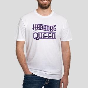 """""""Karaoke Queen"""" Fitted T-Shirt"""