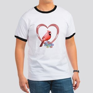 Cardinal in Heart Ringer T