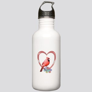 Cardinal in Heart Stainless Water Bottle 1.0L