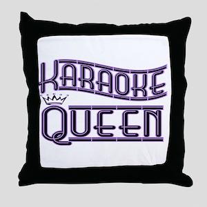 """Karaoke Queen"" Throw Pillow"