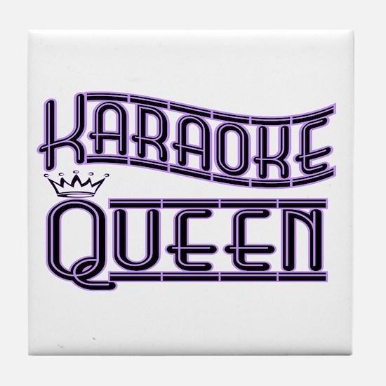 """""""Karaoke Queen"""" Tile Coaster"""
