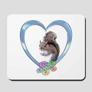 Squirrel in Heart Mousepad