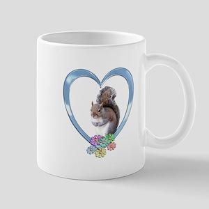 Squirrel in Heart Mug