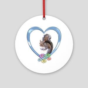 Squirrel in Heart Ornament (Round)