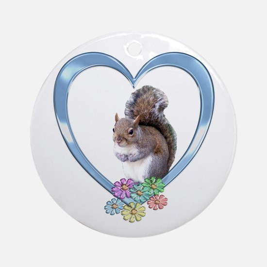 Squirrel in Heart Ornament (Round)