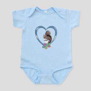 Squirrel in Heart Infant Bodysuit