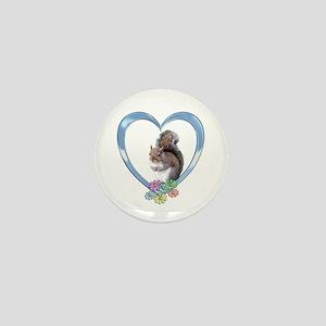 Squirrel in Heart Mini Button