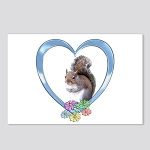 Squirrel in Heart Postcards (Package of 8)