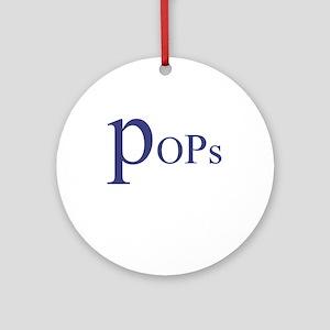 Pops Ornament (Round)