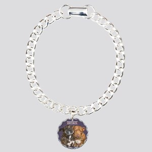 Staffy I Love You Charm Bracelet, One Charm