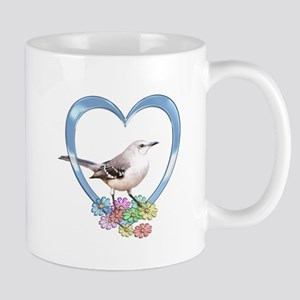 Mockingbird in Heart Mug