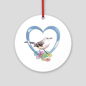 Mockingbird in Heart Ornament (Round)