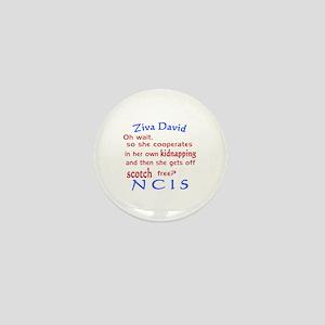 NCIS Ziva Quote: Scotch Free Mini Button