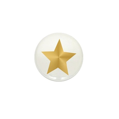 Gold Star Mini Button (10 pack)