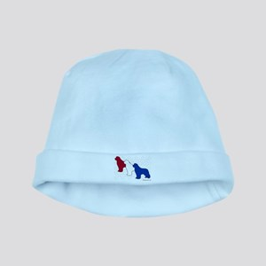 Patriotic Newfies baby hat
