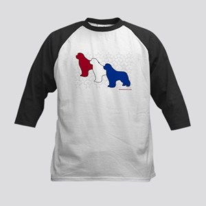 Patriotic Newfies Kids Baseball Jersey
