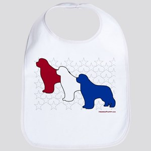 Patriotic Newfies Bib