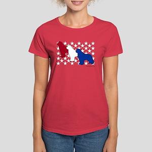 Patriotic Newfies Women's Dark T-Shirt