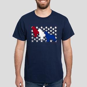Patriotic Newfies Dark T-Shirt