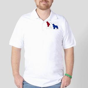Patriotic Newfies Golf Shirt
