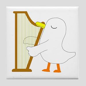 Harpist Tile Coaster
